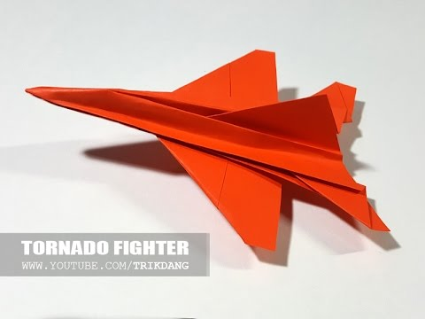 PAPER JET FIGHTER - How to make a paper airplane that FLIES FAST  | Tornado