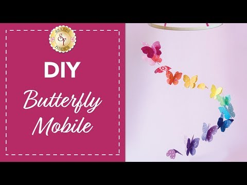 DIY Butterfly Mobile | with Jennifer Bosworth of Shabby Fabrics