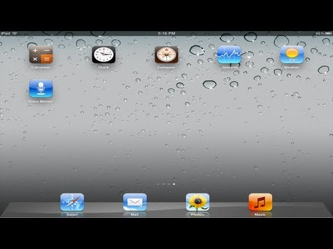 How to get Calc, Clock, Weather, etc on your iPad 2 on iOS5