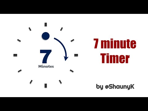 7 Minute Countdown Timer with minute click sounds 7 Mins