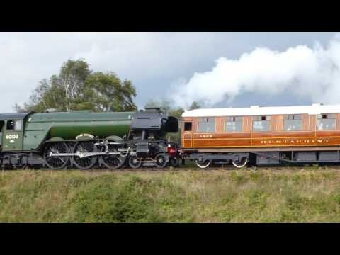 Flying Scotsman coaches  pulling backwards SVR - Pacific Power