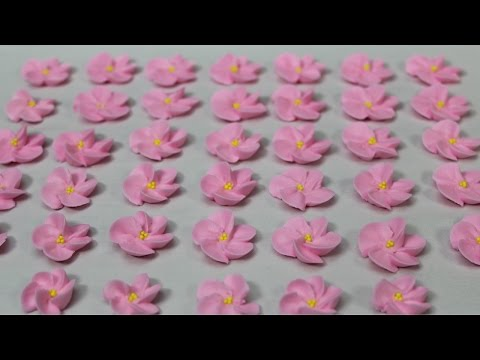 How To Pipe Cherry Blossoms With Royal Icing