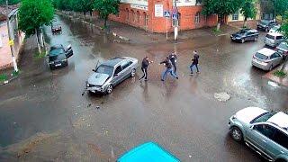 ДТП в Серпухове. Отчаянная драка после аварии... 12 июня 2016г.