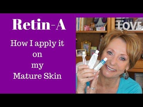 Retin -A |  Tretinoin | How to apply without irritation using Bee Venom Cream on my Mature Skin