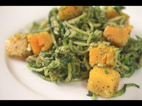 Zoodles Zucchini Pasta With Pesto & Butternut Squash by Rockin Robin
