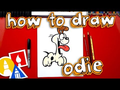How To Draw Odie From Garfield