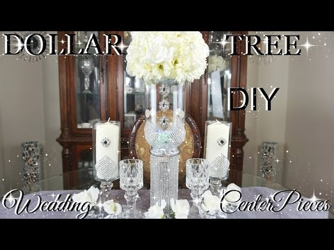 DIY DOLLAR TREE GLAMOROUS WEDDING CENTERPIECES WITH TOTALLY DAZZLED BLING GEMS | PETALISBLESS🌹