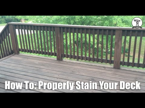 How To: Stain Your Deck