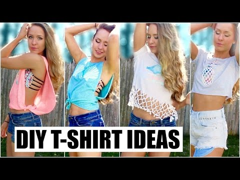 4 Easy DIY T-Shirt Ideas for the Summer!