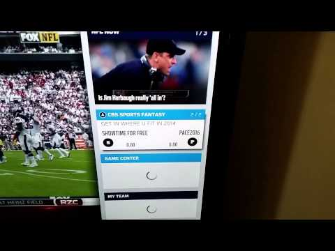 My NFL app experience on XBOX One