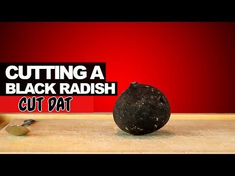 Cutting a Black Radish
