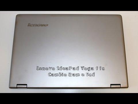 Lenovo IdeaPad Yoga 11s Upgrade Ssd e Hd smontaggio reassembly