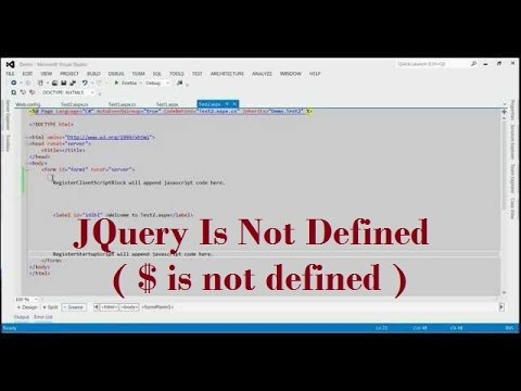 JQuery Is Not Defined ( $ is not defined ) (Reference Error: $ is not defined)