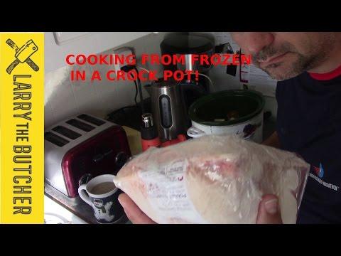 Crock pot chicken from frozen!