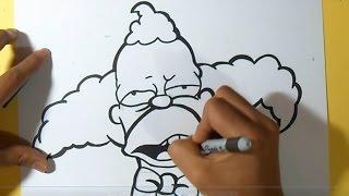 cómo Dibujar a Krusty el Payaso Graffiti | by Dw