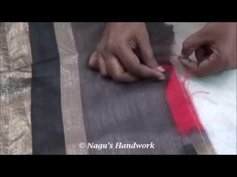 How to Stitch Saree ends-How to sew Saree ends By Nagu's Handwork