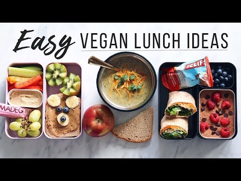 Easy Vegan Lunch Ideas for School, Work & Kids