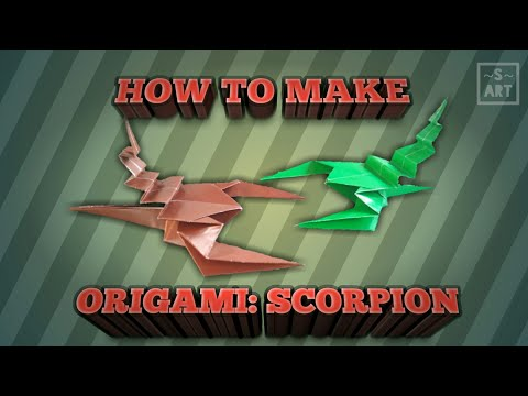 HOW TO make Origami: scorpion