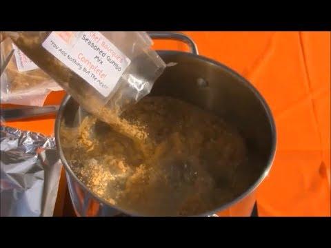 Chef Bourque's Seasoned Gumbo Mix Demo.