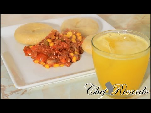 Jamaican Corned Beef Served With Cornmeal Dumpling, | Recipes By Chef Ricardo
