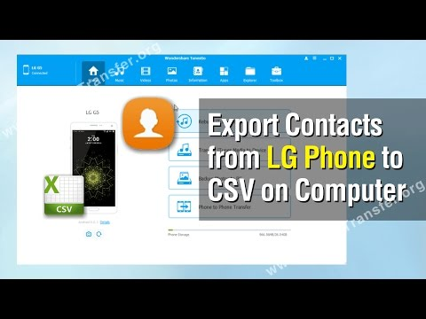 Contacts to Computer | How to Transfer Contacts from LG to Computer
