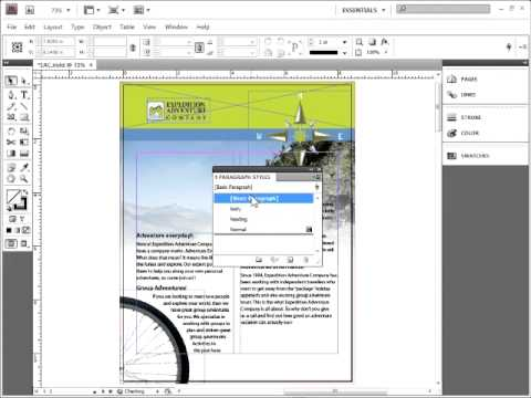 How to Set the default font in Adobe InDesign