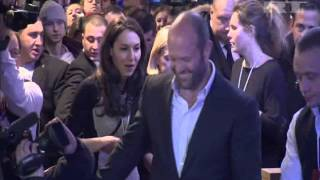 Jason Statham Promotes New Movie Thriller Parker in Moscow