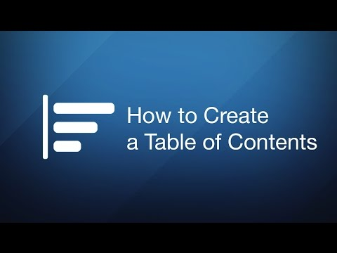 How to Create a Table of Contents in PDF