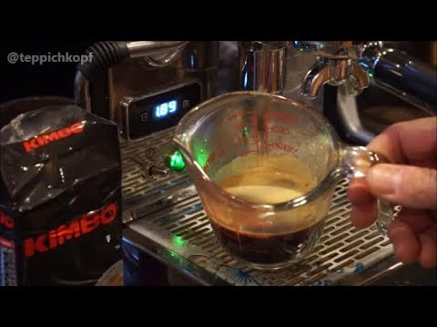 ECM Classika PID - testing Caffe Kimbo Espresso Napoletano ground beans from Italy