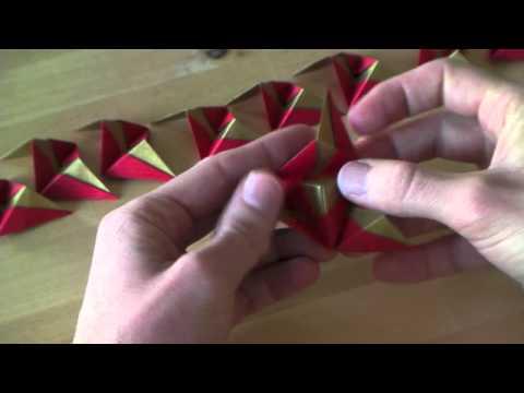 Origami tutorial - Christmas ornament