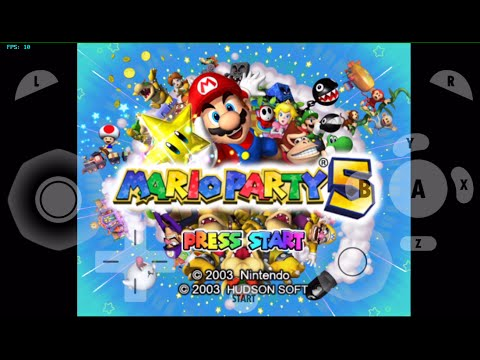 gamecube for ios- Mario Party 5 (Gameplay preview and Intro Test)