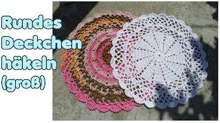 Einfaches Rundes Deckchen Häkeln Für Anfänger