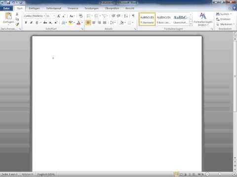 Microsoft Word 2010 Das aktuelle Datum automatisch einfügen