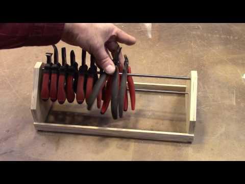 Homemade Plier Rack