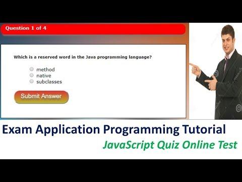 Exam Application Programming Tutorial JavaScript Quiz Online Test | Part 1 of 3 by techtalktricks
