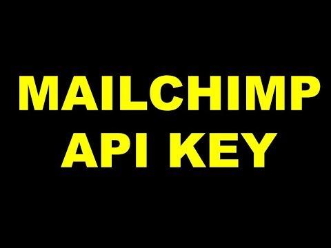Mailchimp API KEY   How to Find Mailchimp API Key