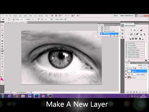 How To Change A Color of An Eye Using Photoshop CS5.1