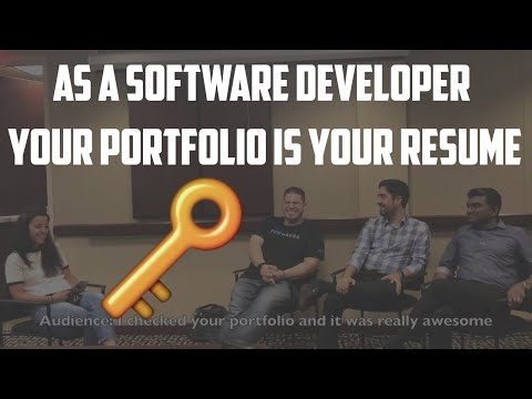 As a Software Developer your Portfolio IS your Resume