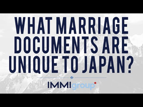 What Marriage Documents are Unique to Japan?