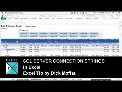 SQL Server Connection Strings In Excel