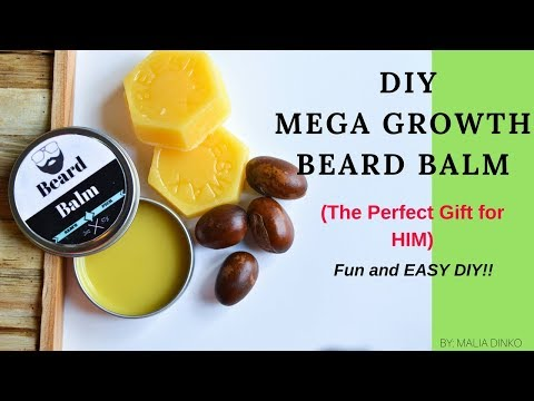 DIY BEARD BALM FOR COARSE and CURLY HAIR || AFRO