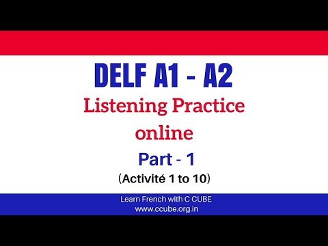 DELF A1 A2 Listening Exercises Practice Online - French Listening Comprehension Examen