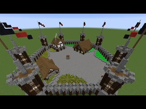 How to Build a Medieval Fort in Minecraft - Part 2