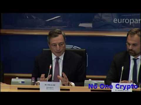European Central Bank President, Mario Draghi about Bitcoins