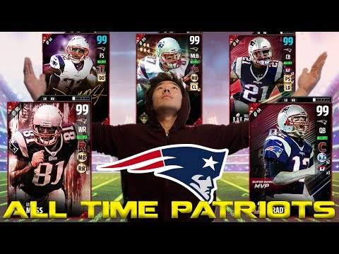 ALL TIME NEW ENGLAND PATRIOTS TEAM BUILDER! MADDEN 17 ULTIMATE TEAM