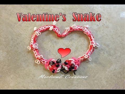 Rainbow Loom Valentine's Day Snake: DIY Loom Bands