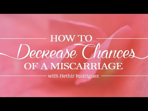 How To Decrease Chances Of A Miscarriage