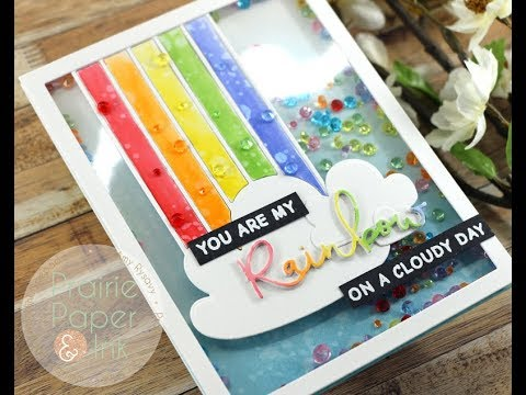 Waffle Flower Rainbow Shaker Card | AmyR 2018 Mother's Day Series #8