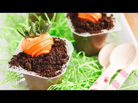 How to Make Carrot Patch Oreo Dirt Cups