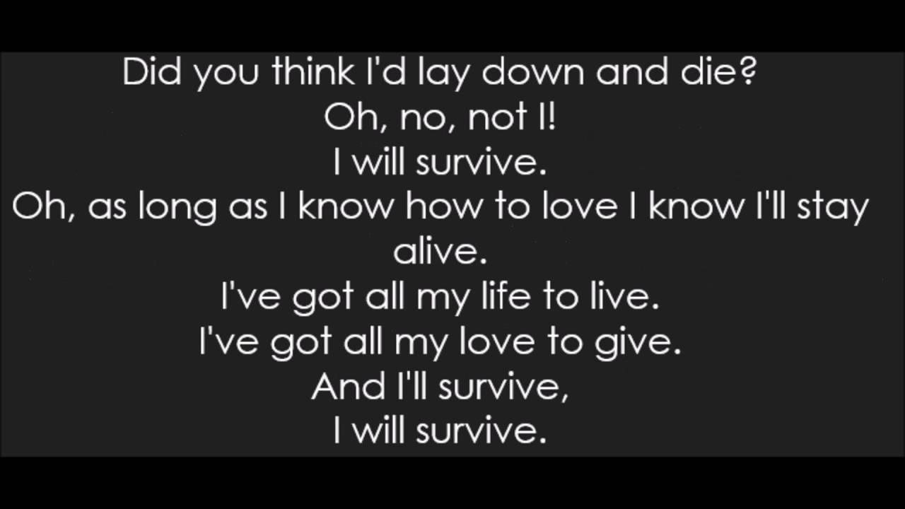 Gloria Gaynor - I Will Survive (Lyrics)